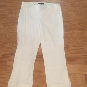 Womens THEORY Solid White Capri Pants Size 0